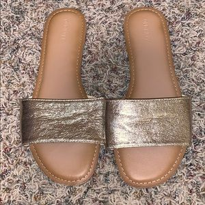 Gold sandals from old navy size 10 women